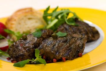 Lamm Medaillons - Steak- mit Rucola