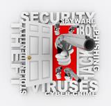 Cyber Crime - Open Door to Computer Theft poster