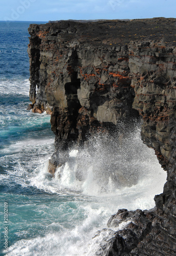 Arches along Big Island Coastline