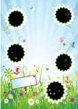 Summer meadow, insert text or photo into frames poster