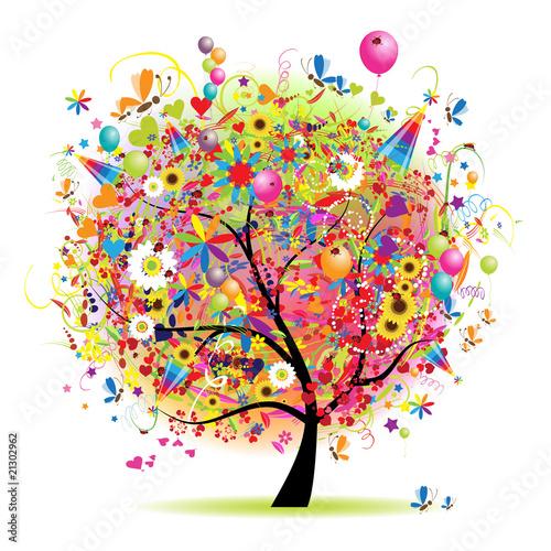 szczesliwy-wakacje-smieszny-drzewo-z-baloons