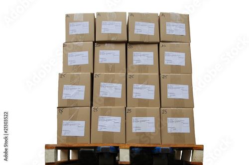 palette de cartons