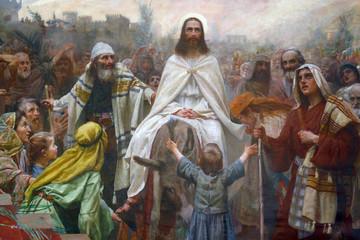 Jesus on Palm Sunday