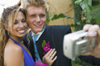 Prom Couple Taking Photo