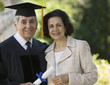 Senior Graduate and Wife