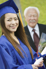 Grandfather and Granddaughter at Graduation