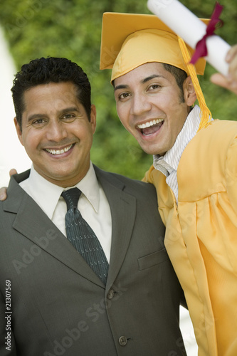 Father Proud of Graduating Son