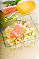 parma ham and potato salad