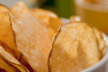 Rustic homestyle kettle cooked potato chips