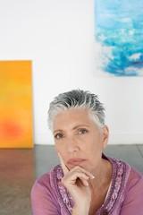 woman in art gallery portrait