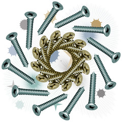 Fasteners dowel screw spiral
