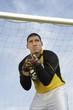 goalkeeper holding ball portrait