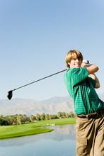 Club de golfeur balançant