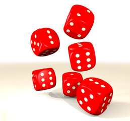 red six dice
