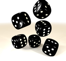 black six dice