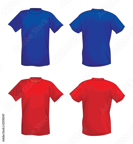 blank t shirt design template. T-shirt design template