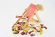 tabletten mit liegestuhl