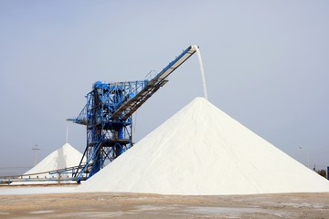 Sea salt production in Santa Pola, Alicante - Spain