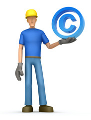 builder with copyright