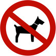 No dogs allowed (illustration sign)