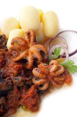 octopus in tomato sauce potato