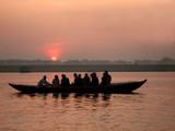 sunset on River Ganges poster