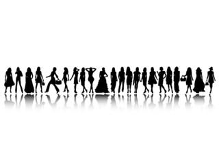 Fashion silhouettes