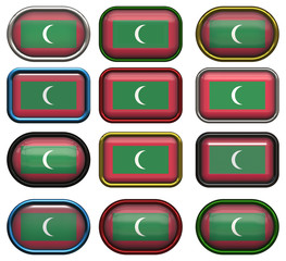 twelve buttons of the Flag of Maldives