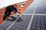 installing solar modules on a roof 11 poster