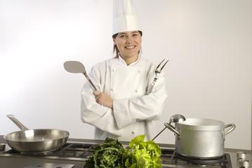 Cuoca ai fornelli