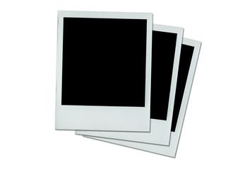 three stacked Polaroid photos