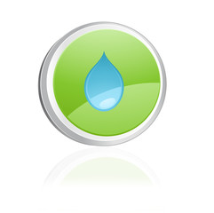 Ecology igon with drop water, green collection