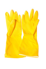 Gloves for sanitary cleaning isolated