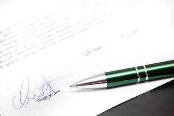 fake signature