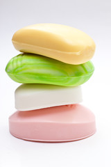 Four colored soap