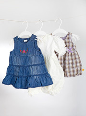 Children clothes on racks