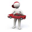 3D Man Car