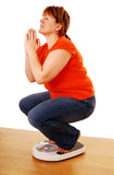 Praying for weight loss poster