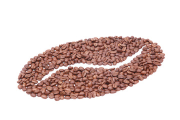 Coffee bean made of coffee beans