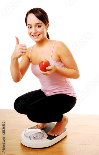 Losing weight through healthy diet