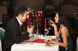 Romantic couple having dinner