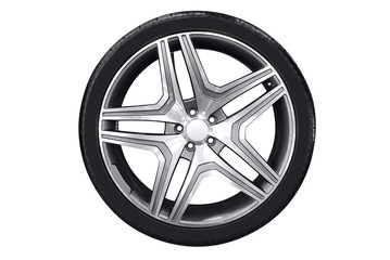 car wheel with aluminu rim
