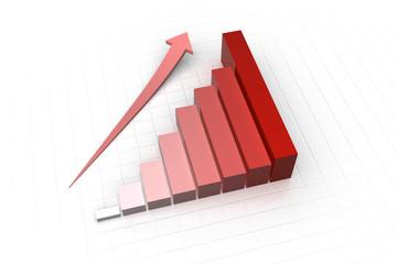 grafico business rosso