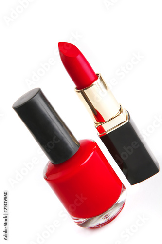 nailpolish and lipstick