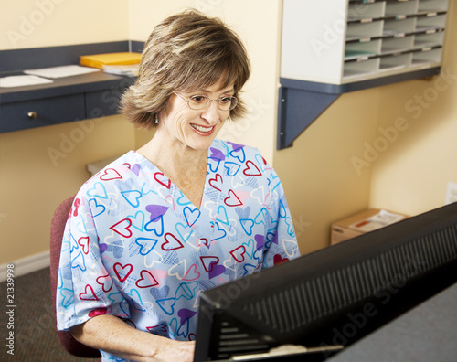 Medical Receptionist Working