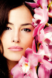 Fototapety brunette with orchid