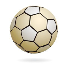 vector handball or soccer ball isolated