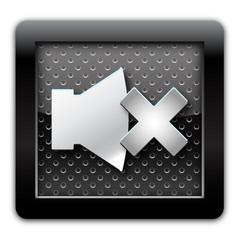 Sound off metallic icon