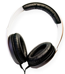 Headphones, isolated on a white background.