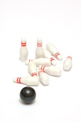 Birilli e boccia da bowling in miniatura